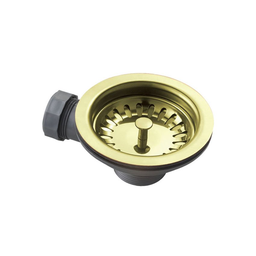 Basket Strainer Waste - Gold Brass