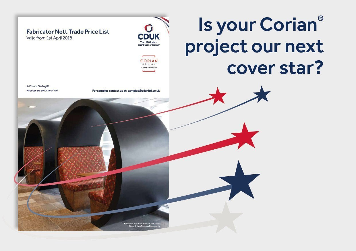 Could your Corian® project be a cover star?