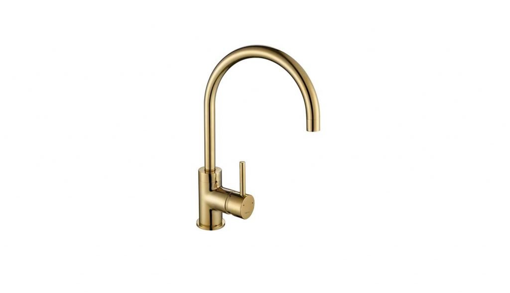 Courbe Curve Tap in Gold Brass