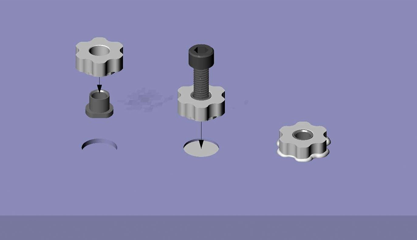 Picture of Semi-recessed M4/M6 Squirrel® Fixings