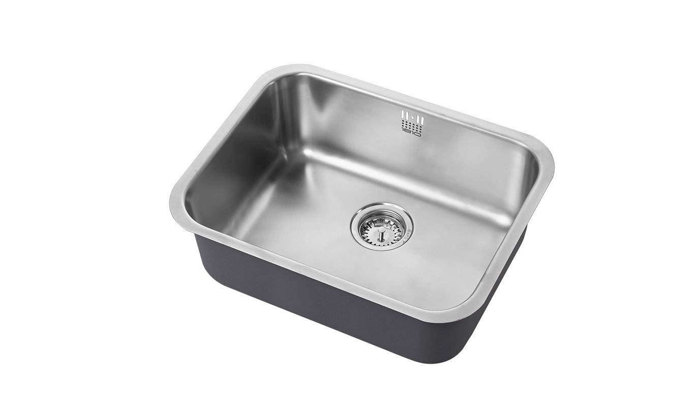 Image of Single Bowl Stainless Steel Sink 550