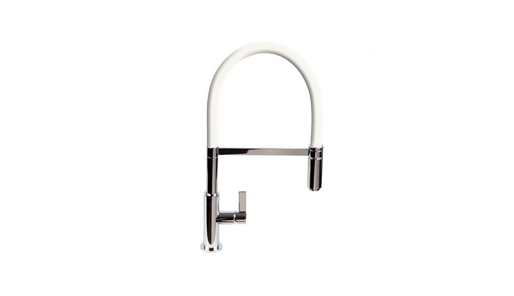 Spirale Flexible Spout Tap - White