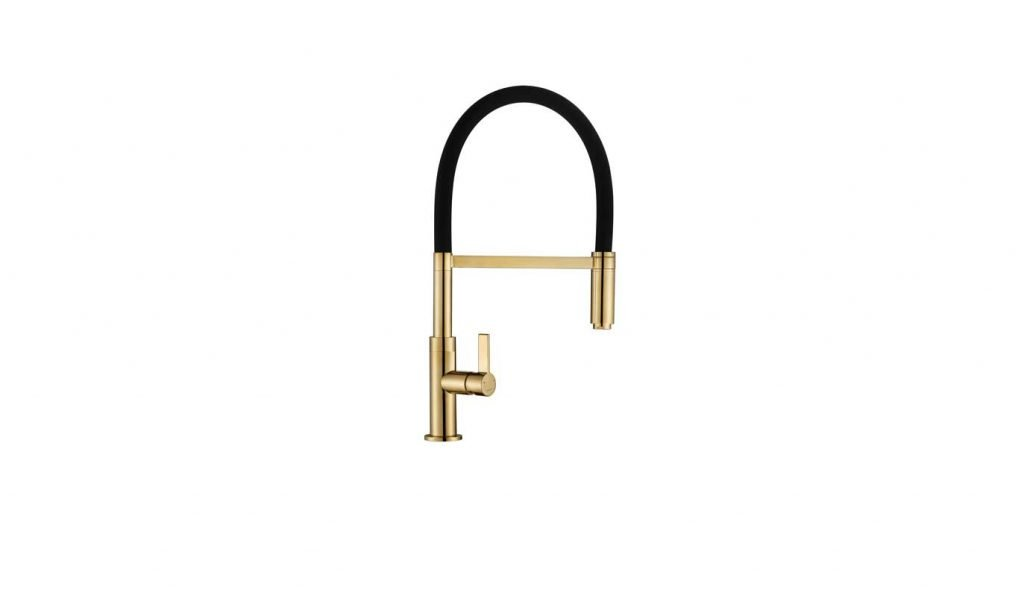Spirale Flexible Spout Tap - Gold Brass