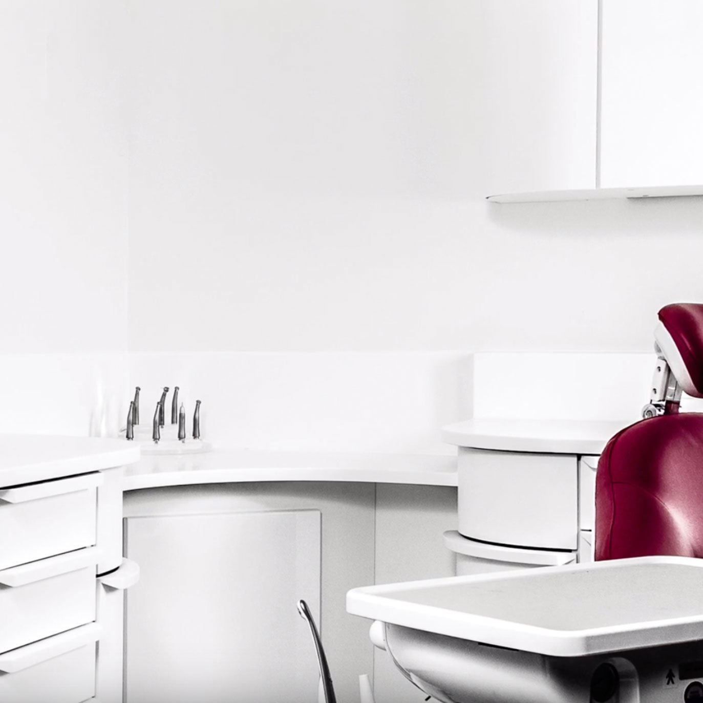 Dental room with Corian® worksurfaces
