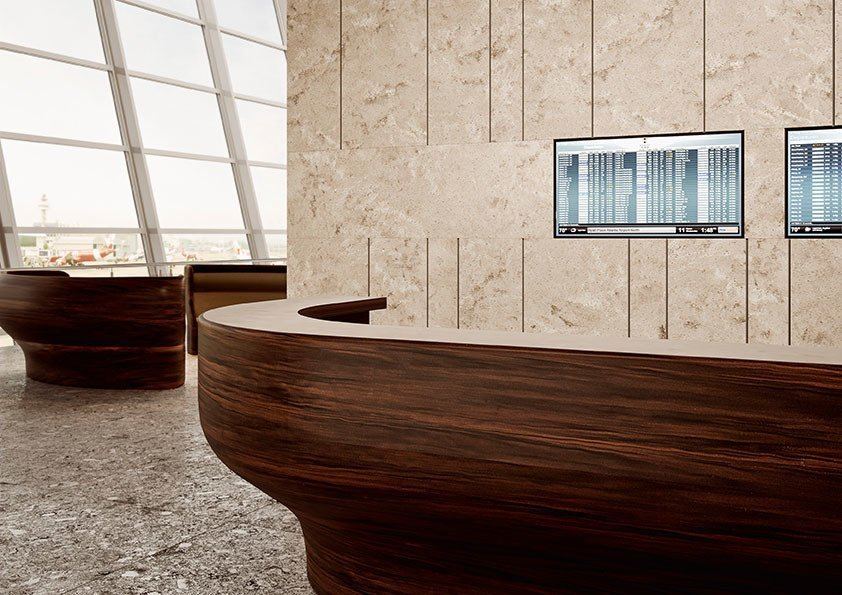 Corian® Solid Surface - Mahogany Nuwood - Commercial