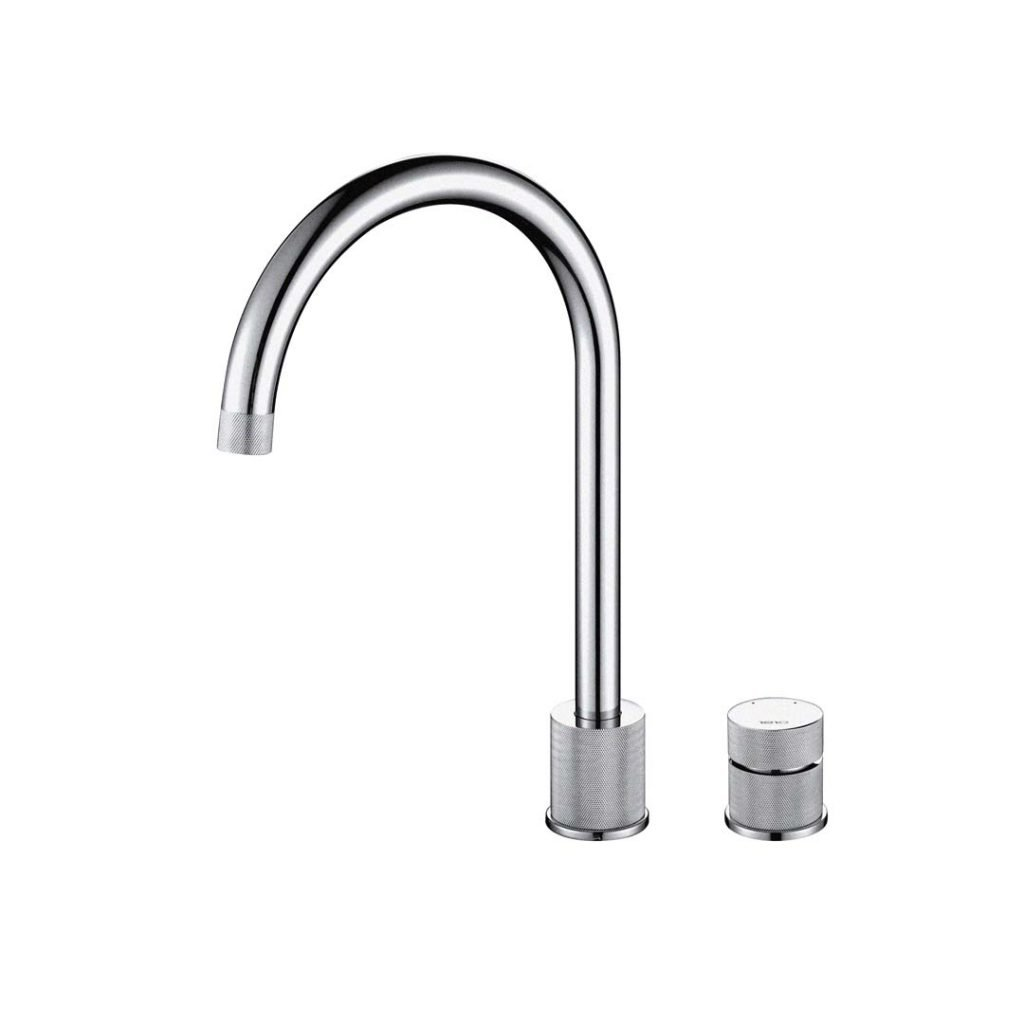 Finire Knurled Tap - Brushed Steel