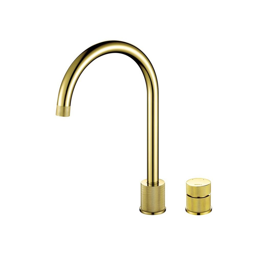 Finire Knurled Tap - Gold Brass
