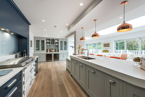 Kitchen by Marble Building Products, featuring Corian® Solid Surface
